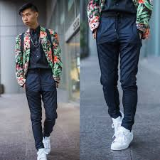 tommy lei zara floral blazer zara mesh trouser adidas shell