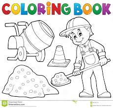 Travailleur De La Construction 2 De Livre De Coloriage Illustration