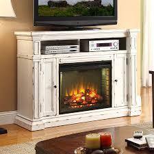 Legends Furniture 58 In W 4600 BTU Rustic White Wood Fan Forced Electric Fireplace