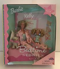 Bedtime Stories Barbie Kelly Doll W Coloring Book Toys R Us 29426 NRFB
