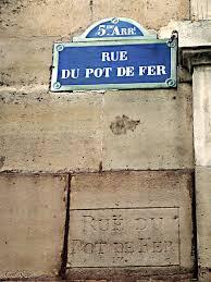 rue pot de fer rue du pot de fer photo de plaques de rues