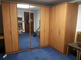 schlafzimmer komplett bett eckkleiderschrank buche