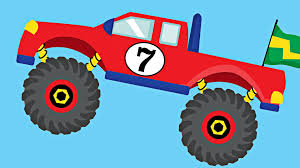Monster Trucks Teaching Numbers 1 To 10 - Number Counting For Kids ...