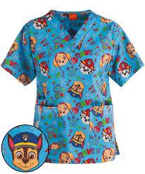 Ceil Blue Scrubs Sets by Cartoon Medical Scrubs U0026 Character Scrubs At Uniform Advantage