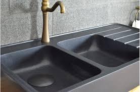evier de cuisine en 120x60 évier granit noir de cuisine en 2 cuves égouttoir
