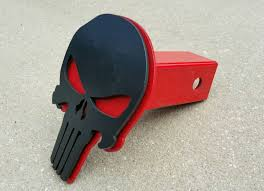 Punisher Trailer Hitch Cover Black And Red Punisher Punisher | Etsy
