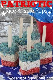 Rice Krispie Christmas Tree Pops by Patriotic Rice Krispie Pops Red White And Blue Treats