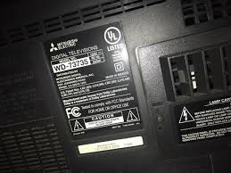 72 inch mitsubishi plasma tv needs bulb 350 electronics in