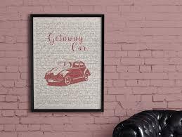 100 Pickup Truck Lyrics Getaway Car Typography Poster Instant Download Etsy