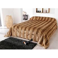 couvre lit fausse fourrure lynx