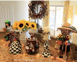 Mackenzie Childs Painted Pumpkins by Peonies And Orange Blossoms Early Fall Centerpiece Decor
