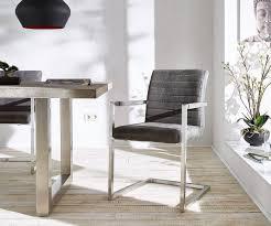 esszimmerstuhl earnest quersteppung grau vintage gestell edelstahl freischwinger moderne einrichtungsideen günstig bei möbel modern