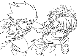 Dragon Ball Z Coloring Pages Goten From For Kids Printable Free To Download