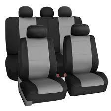 Amazon.com: FH Group FB083GRAY115 Full Set Seat Cover (Neoprene ...