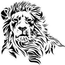 Lion Head Royalty Free Stock Vector Art Illustration TattoosTribal