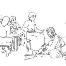 1000 Images About Bible NT The Last Supper Coloring Page Of Jesus Washing Disciples Feet