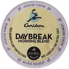 Caribou Coffee Daybreak Morning Blend K Cups For Keurig Cup Brewers 12 Coun