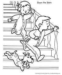 Kids Christmas Morning Coloring Page Sheets Are Great For Children To About The Meaning Of These Fun Pages Depict Some
