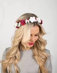 Bridal Floral Crown Wedding Hair Boho Flower White Headpiece Rustic