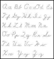 print cursive letters Printable Cursive Alphabet