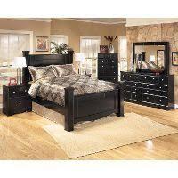 Black Contemporary 6 Piece Queen Bedroom Set