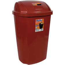 Christmas Tree Trash Bags Walmart by Hefty 13 5 Gallon Swing Lid Trash Can Red Walmart Com
