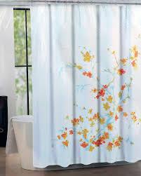 Amazon Tahari Fabric Shower Curtain Blue Orange Yellow