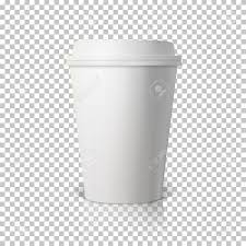 Illustration Of Vector Coffee Cup Isolated On Transparent PS Style Background Photorealistic 3D Paper