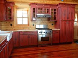 Rustic Red Kitchen Cabinets Full Size Of Painted Ideas Large