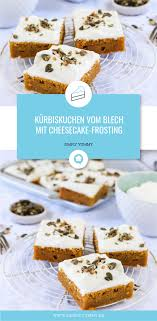 kürbiskuchen vom blech mit cheesecake frosting