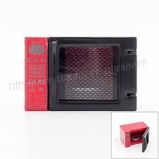 Odoria 112 Miniature Red Microwave Oven Kitchenware Dollhouse Accessories For Kitchen