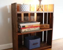 wood bookshelf etsy