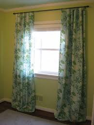 Floor To Ceiling Tension Rod Curtain by How To Make No Sew Curtains And Make A Window Look Way Bigger