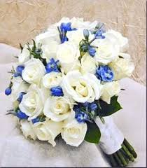 Posies artificial wedding flowers brides posy bouquet and 2