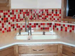 glass tile backsplash with stainless steel kitchen sink glass