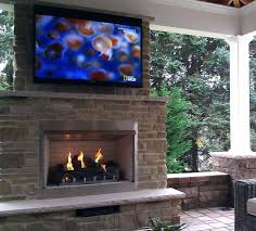 Outdoor Fireplace Electric Outside Fireplace Inserts In Outdoor
