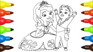 Sofia The First Princess Coloring Page L Disney Junior Drawing Pages For Kids
