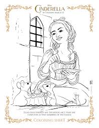Cinderella Coloring Pages Mice