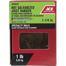 Ceiling Fan Joist Hangers by Ace 1 1 4in Joist Hanger Nail 1 Lb Box Sub Pack Nails Ace