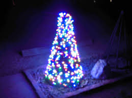 Spiral Christmas Tree Lighted by Behind The Scenes Christmas Lights
