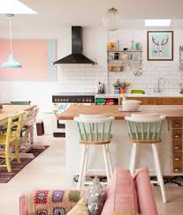 Kitchen Dining Living Room Gigis Candy Colored London Cottage House Tour