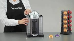 Nespresso Vertuo Coffee Maker And Espresso Machine With Aeroccino Milk Frother Silver BNV250CRO1BUC1
