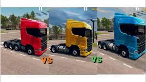 100 4x2 Truck World Driving Simulator Scania 8x4 Vs 6x4 Vs YouTube