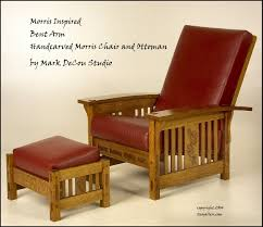Charles Stickley Rocking Chair by Built To Order Morris Style Curved Arm Lounge Chair And