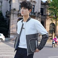 2017 Harajuku Street Fashion New Spring And Autumn Korean Style Men Casual Hit Color Jacket Teenagers