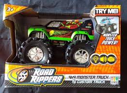 ROAD RIPPERS MONSTER Truck Toy Custom Wheelie Lights Sound New In ... Gizmo Toy New Bright 115 Rc Ff Monster Jam Truck Rakutencom Hot Wheels Rev Tredz 2pack Styles May Vary Walmartcom 25th Titan W Team Flag 164 Jam Amazoncom Wrecking Crew Diecast Vehicle 1 Toys Lot Of 92 17324880 Derailed 17 Train Offroad 2014 Giant Grave Digger Mattel List 2018 Trucks Wiki Zombie 124 Scale Best Large Remote Control Kids Big Wheel Car 24 Gptoys S911 24g 112 2wd Electric 5417 Free Decal Sticker Pack Decalcomania