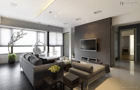 Modern Apartment Living Room Color Ideas With Nice Gray Colors And Sofa Set
