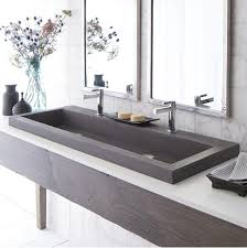Undermount Double Faucet Trough Sink by Bathroom Trough Sink Bathroom 41 Undermount Trough Bathroom Sink