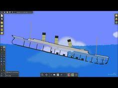 Titanic Sinking Simulation Real Time by Virtual Sailor Titanic Sinking 2 Youtube Bateau Pinterest
