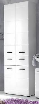 badschrank hochschrank weiß hochglanz badezimmer schrank 4 trg 60 cm möbel skin ebay